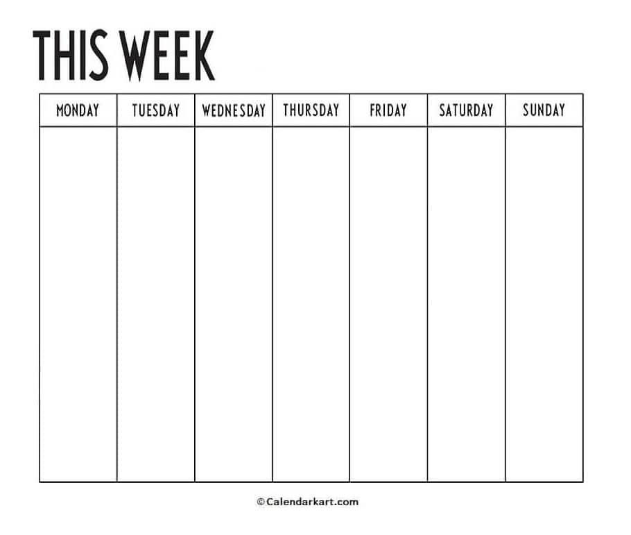 Minimalist Weekly Planner Template