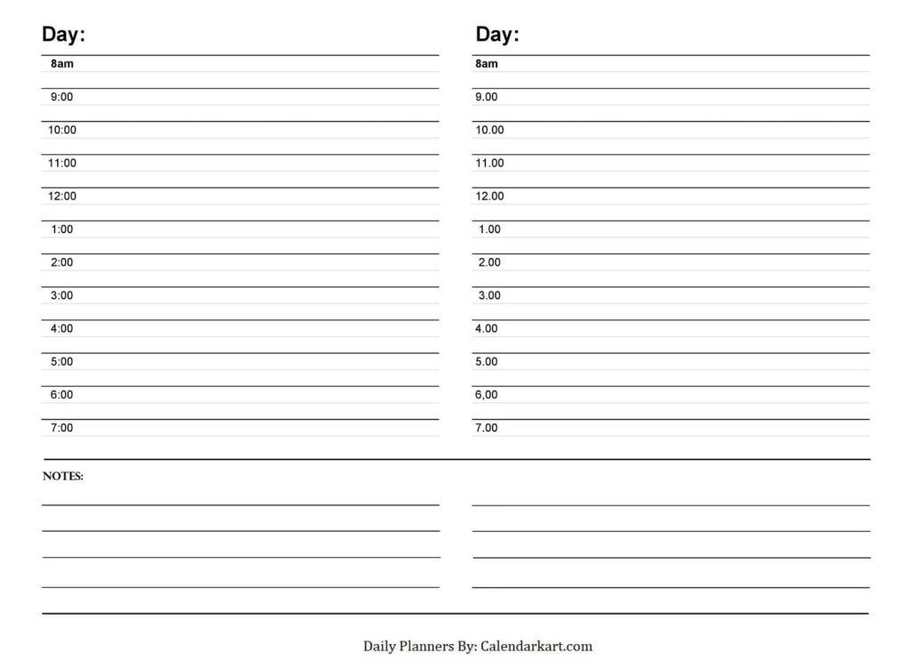2 Day's Schedule Planner